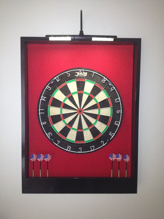 Ordinaire LIGHTED Red U0026 Black Trim Custom Dart Board By JaysProjects On Etsy