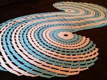 Spiraldeckchen Spiraldeckedeckchen Blau Weiß 1 2 0 Mandala