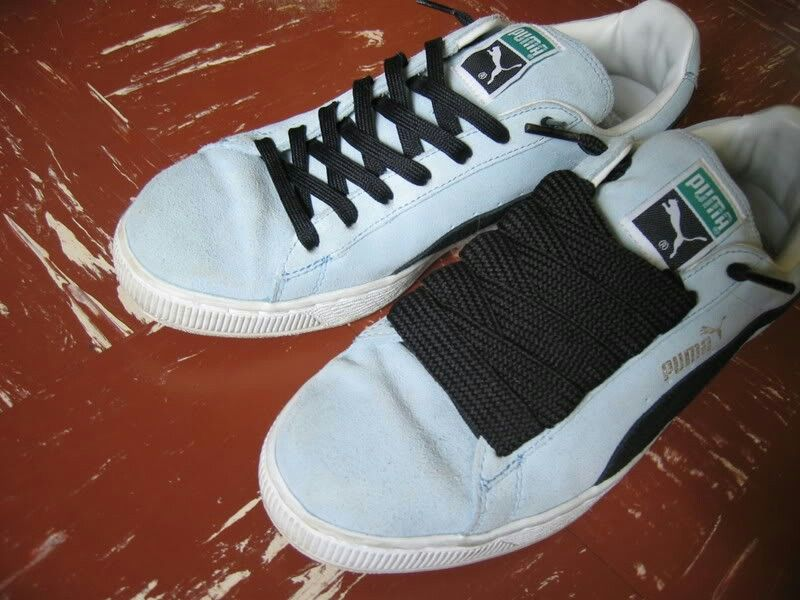 Fat vs Basic - Fat laces will always make them (old school Adidas   Puma  classics) look better   phatter!! b60e18116