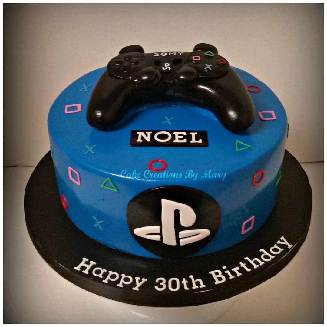 Playstation Birthday Cakes Google Search Playstation Cake 4th Birthday Cakes Childrens Birthday Cakes