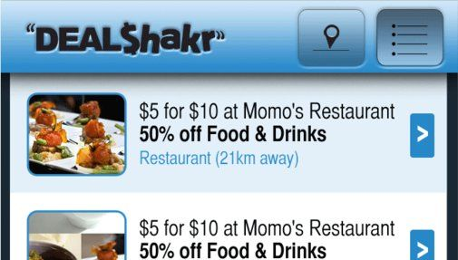 Deal Shakr - A GPS driven aggregate of group buy sites + a members area to add additional specials