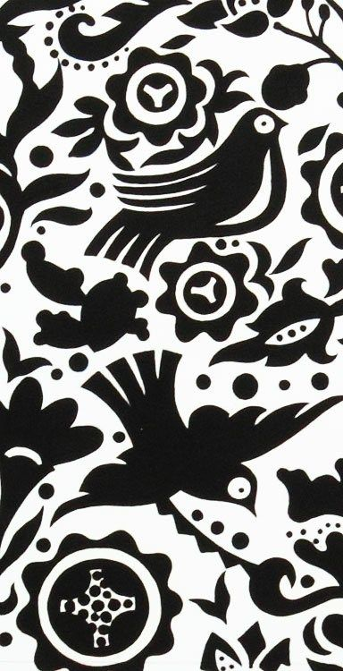 1 Yard Quilt Fabric La Paloma Black And White Bird Fabric  A Henry | auntiechrisquiltfabric - Craft Supplies on ArtFire