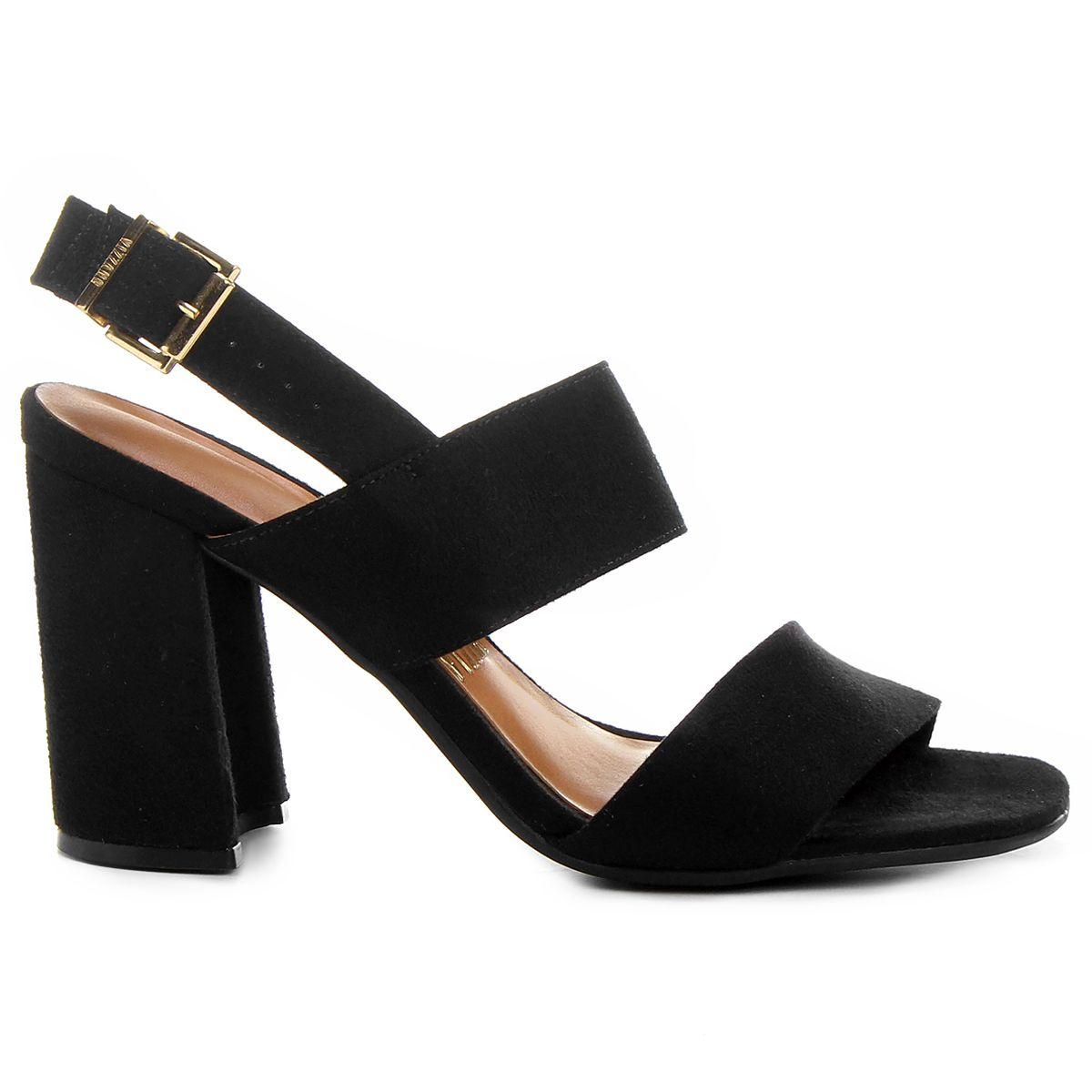 b523f114a8 Compre Sandália Vizzano Salto Grosso Tiras Preto na Zattini a nova loja de  moda online da