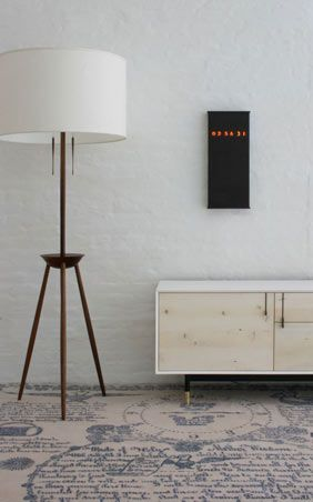 lamp, credenza, rug + clock from BDDW