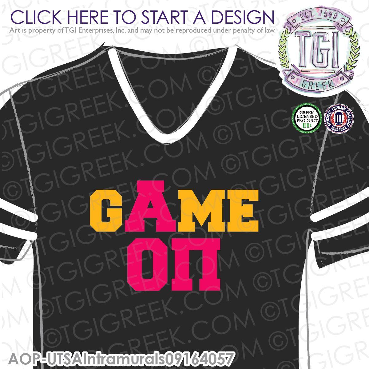 Alpha Omicron Pi | AOII | Intramural | Athletics | Sisterhood | Intramural Tee | Intramural Jersey | TGI Greek | Greek Apparel | Custom Apparel | Sorority Tee Shirts| Sorority Tanks | Sorority T-shirts