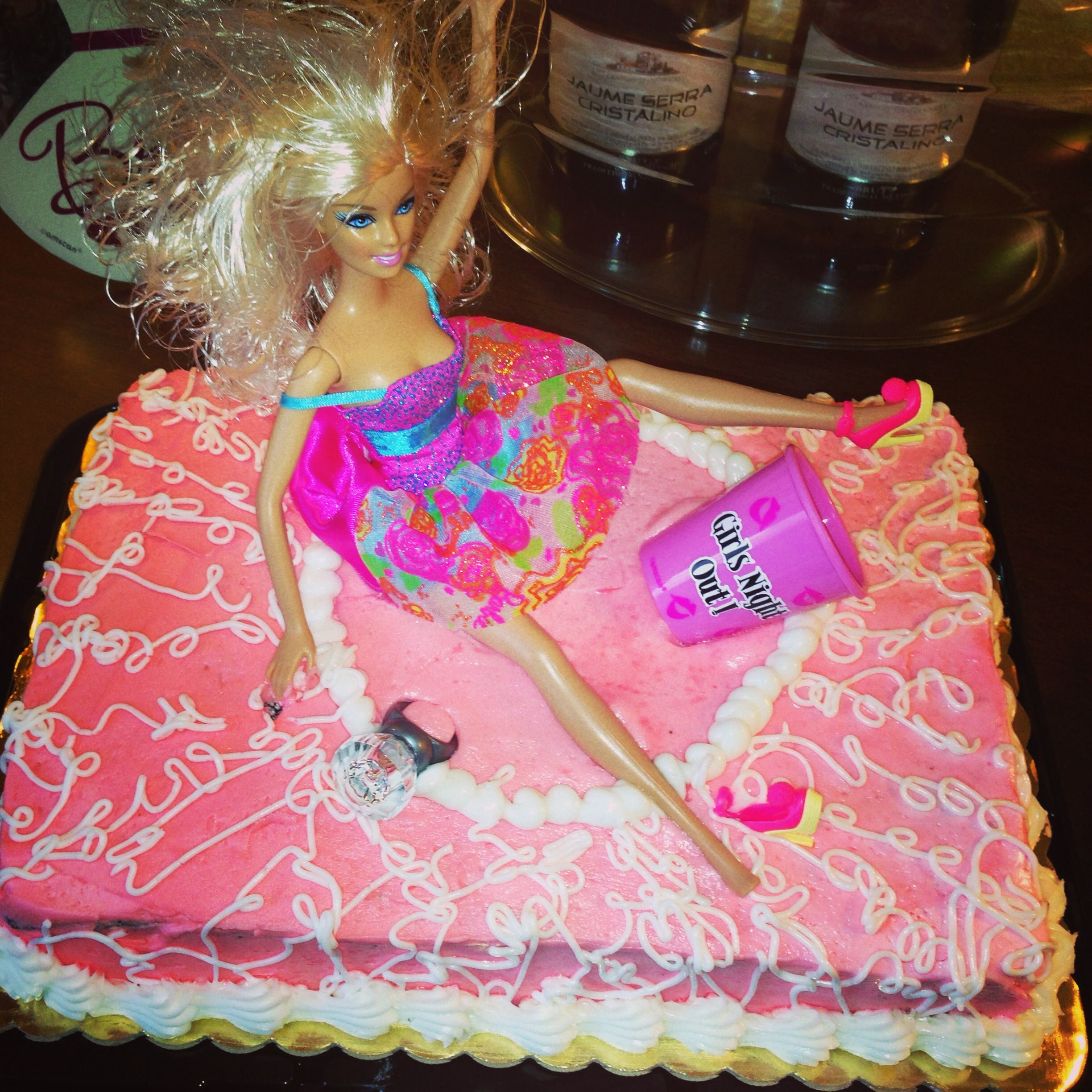 Barbie Bachelorette Cake Bacheloretteparty