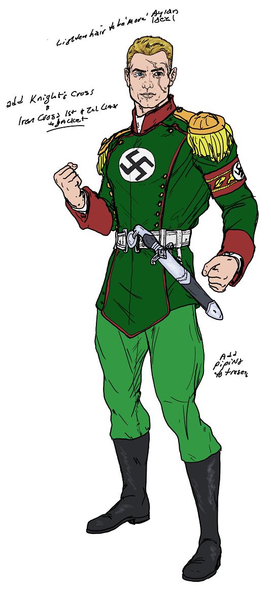 The Aryan aka Captain Nazi WiP - 01 by Spake759 on DeviantArt