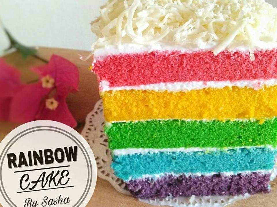 Resep Rainbow Cake Kukus Ny Liem Oleh Sasha Resep Kue Pelangi Kue Resep