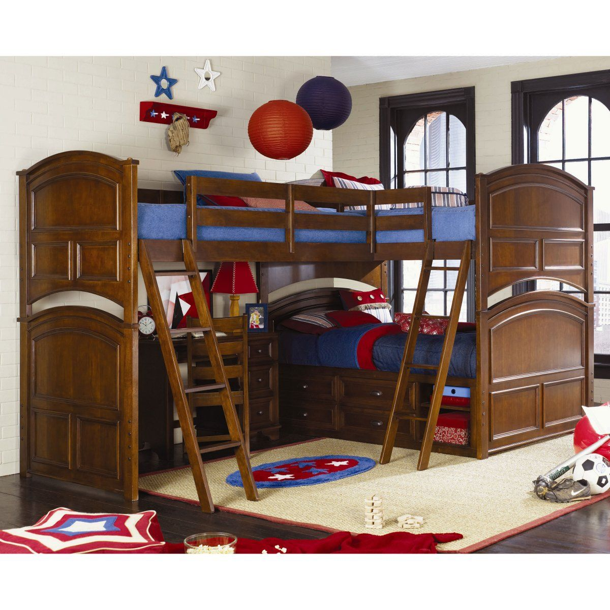 Deer Run Tri Bunk Bed Loft Beds At Simply Bunk Beds For The