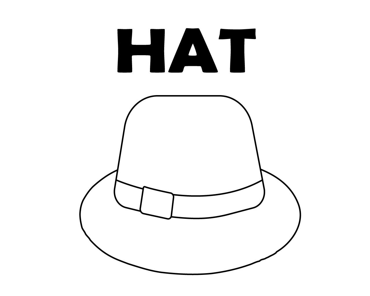 Hat Coloring Page To Print We Like Hat There Are Different Types Of Hat To Color You Can Download Hat Co Coloring Pages To Print Coloring Pages Types Of Hats