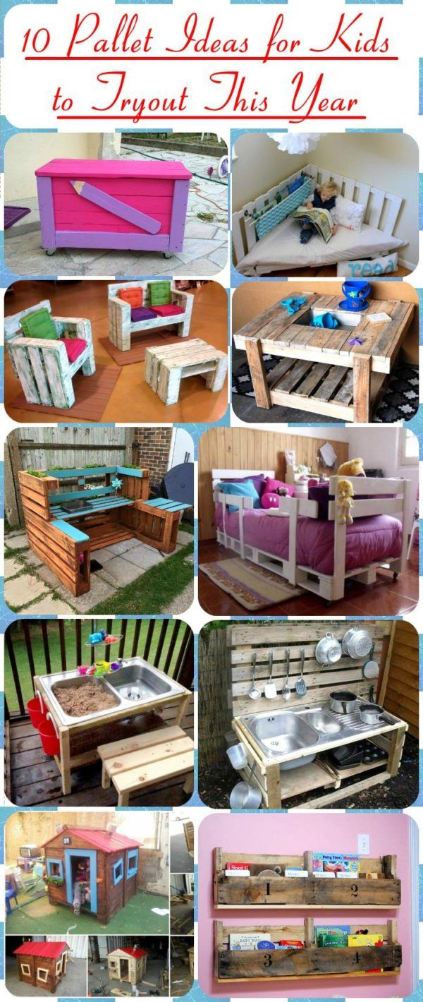 10 Pallet Ideas for Kids to Tryout This Year | DIY | Bricolage ...