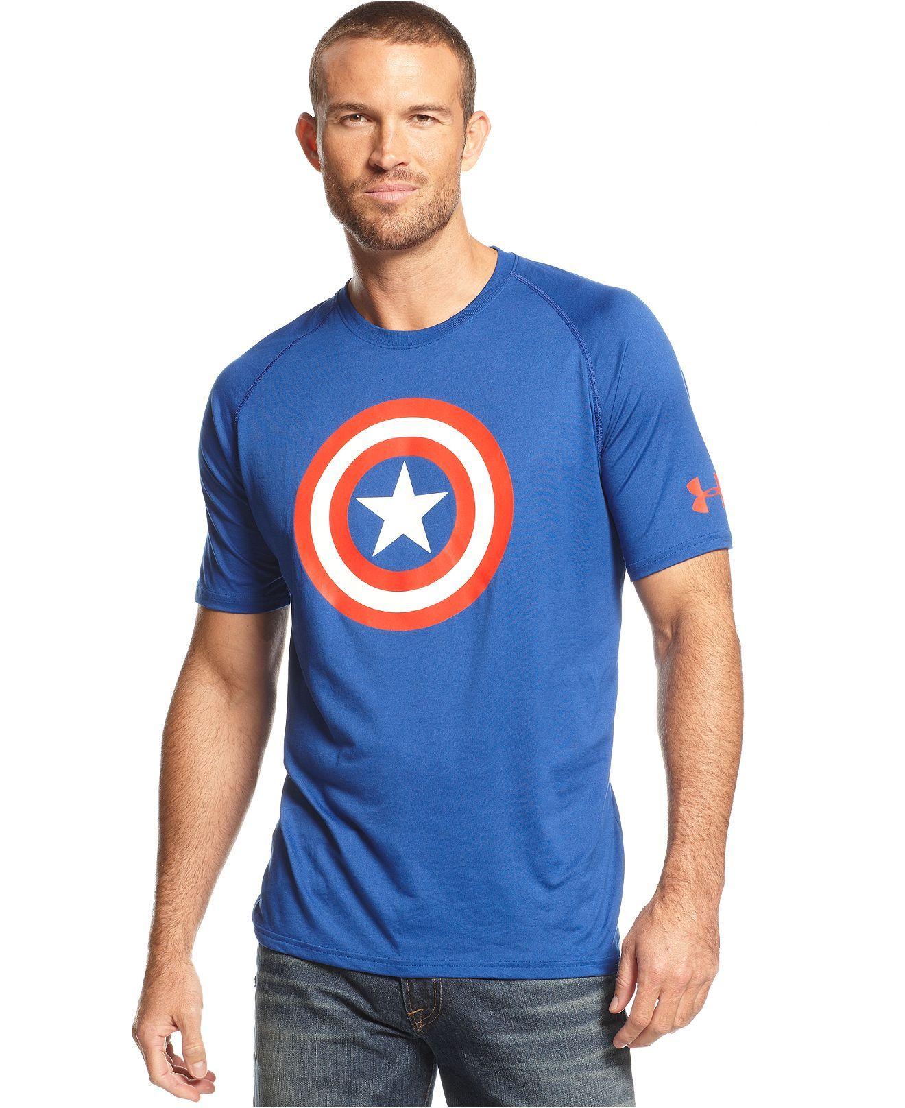 df334add Under Armour Shirt, Alter Ego Captain America T-Shirt - T-Shirts - Men -  Macy's【E7buy 美國頂級Macy國際免運再八折】這件可以再八折,不用 $1100