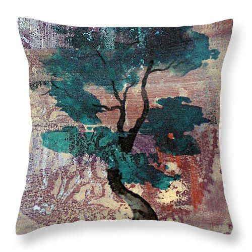 """Zen Tree 2 14"""" x 14"""" Throw Pillow by Lauri Jean Crowe.  Multiple sizes available."""