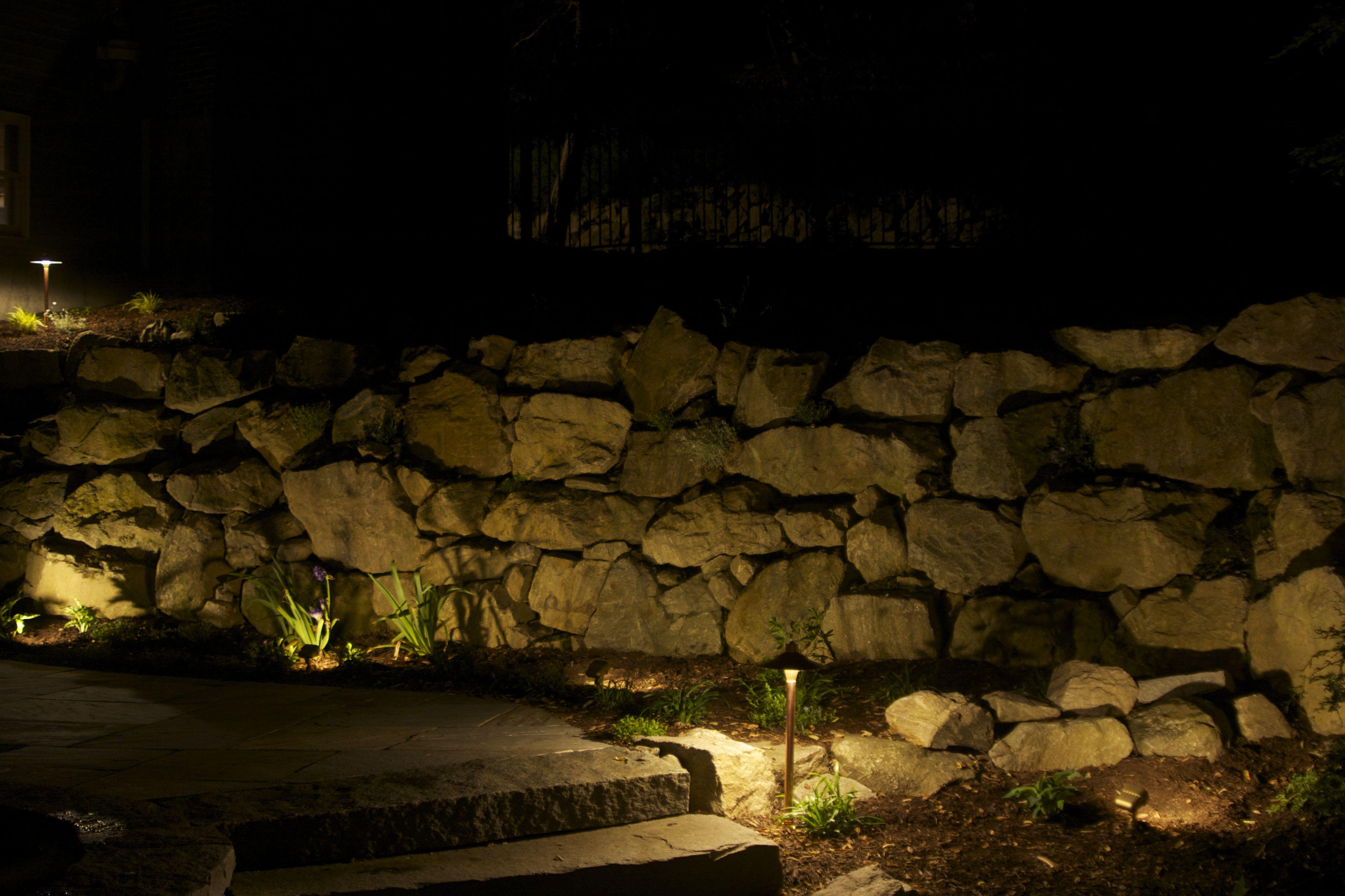 Stone Wall Lighting Field Stone Wall Wall Wash Lighting Stone Wall