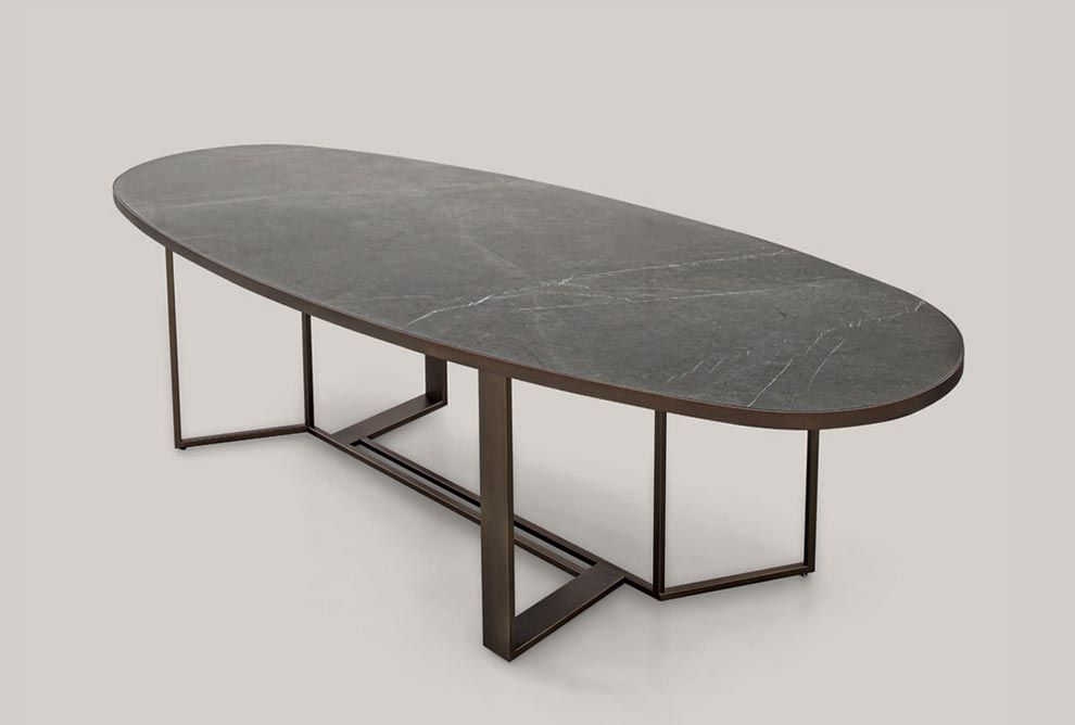 Shakedesign Tables And Desks Boston Oval Fixed Table With Light