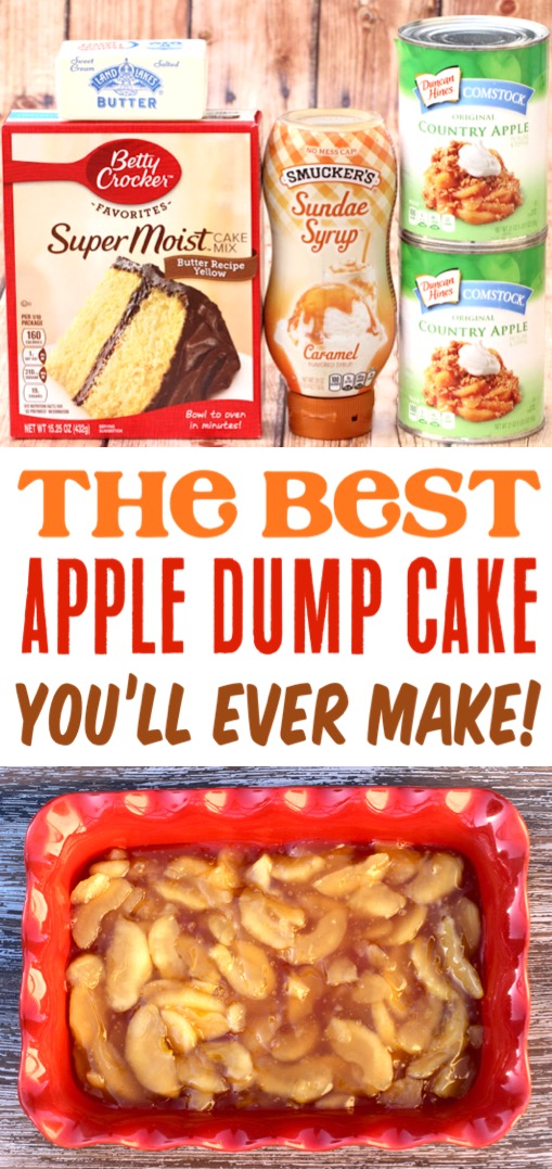 Apple Caramel Dump Cake Recipe with 4 Ingredients! – The Frugal Girls