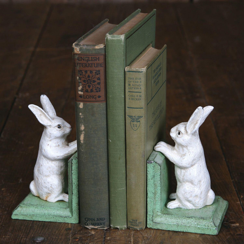 adorable bunny bookends serre livres lapin lecture lapin art mignon lapin