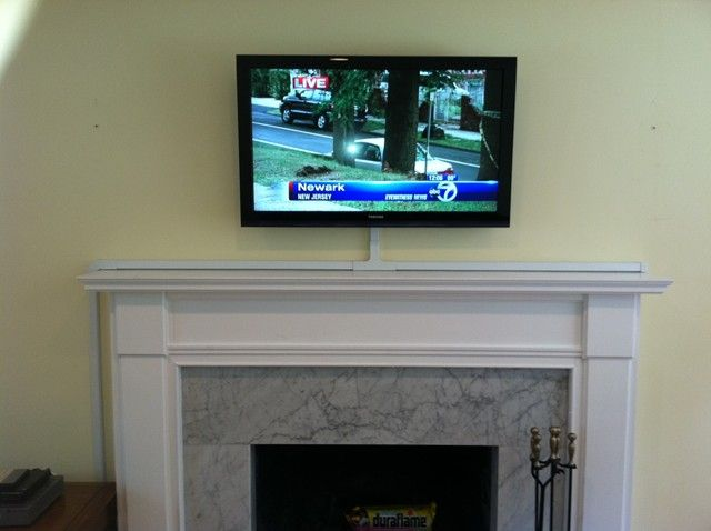 How Should I Run Wiring For My Above Fireplace Mounted Tv Tv Above Fireplace Fireplace Tv Mount Hide Tv Wires