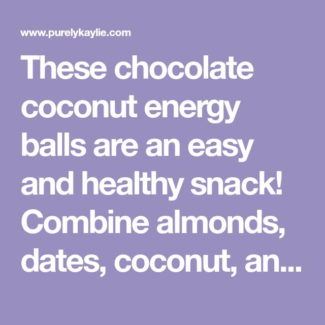 Chocolate Coconut Energy Balls Recipe In 2020 Chocolate Coconut Energy Balls Coconut Energy Balls