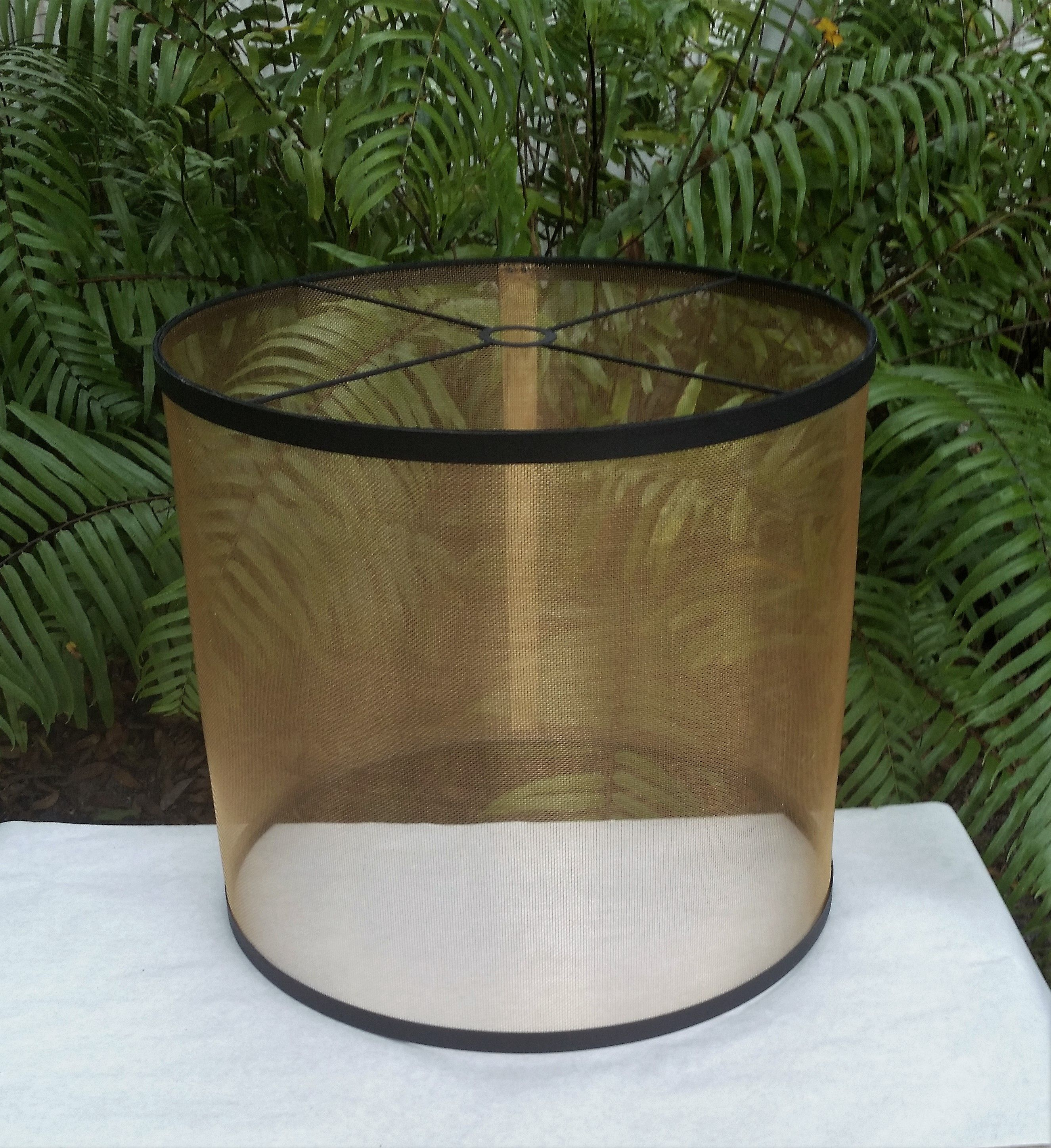 Wire Mesh Lamp Shade Bronze Lampshade Pendant Lamp Shade Custom Lamp Shade Industrial Lampshade Large Lamp Shade Screen Lamp Design Lamp Shade Lampshades