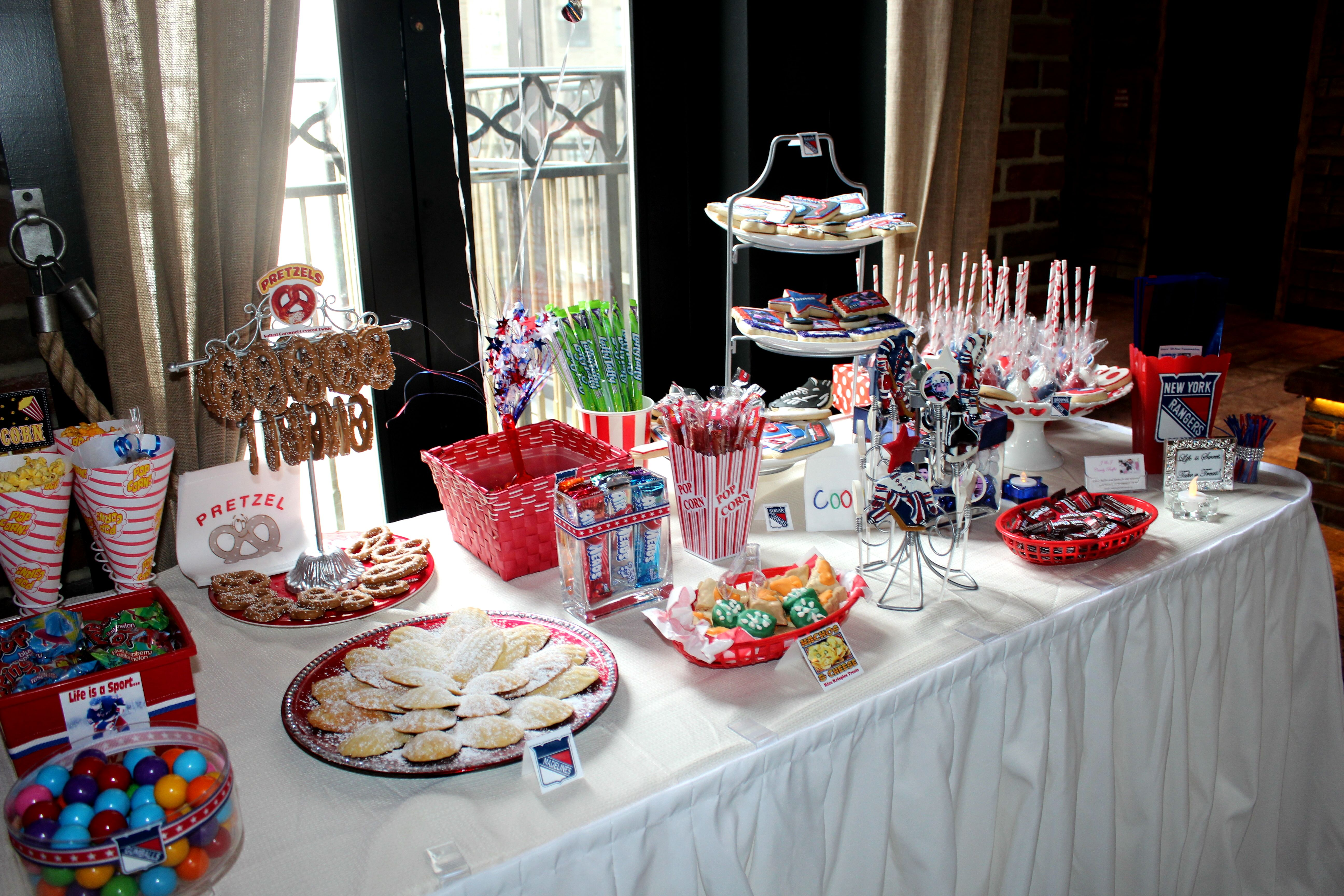 New York Rangers Concession Stand Candy Table