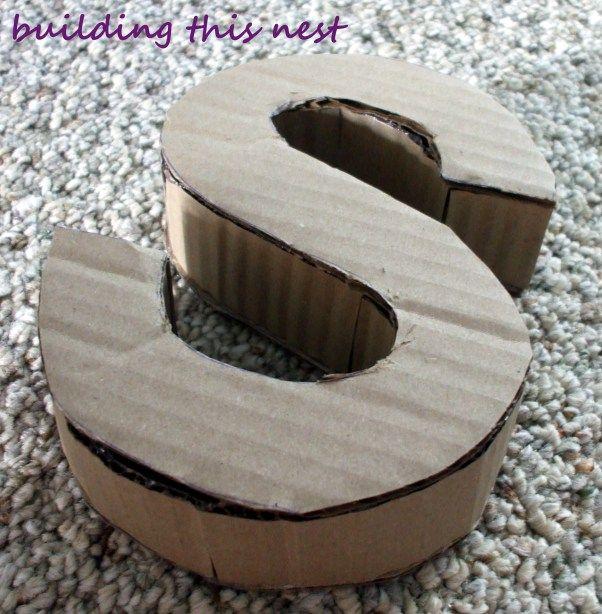 I Love Cardboard Cardboard Letters Large Cardboard Letters Cardboard Crafts