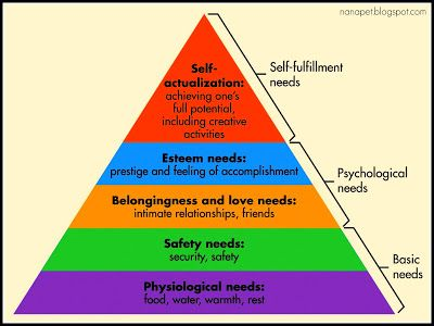 Teen maslow hierachy of needs