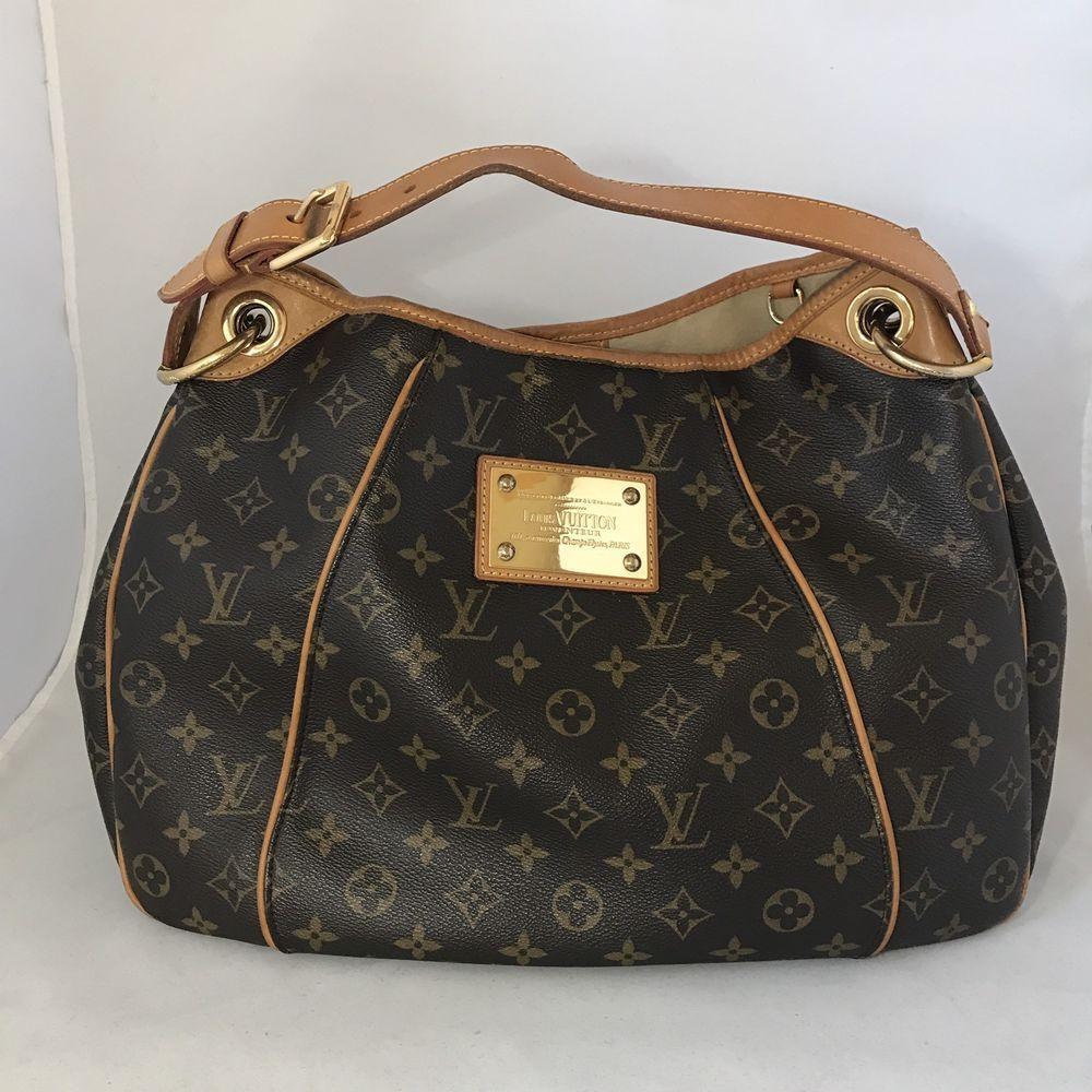 Authentic Louis Vuitton Monogram Galliera Pm Hobo Shoulder Bag Ebay