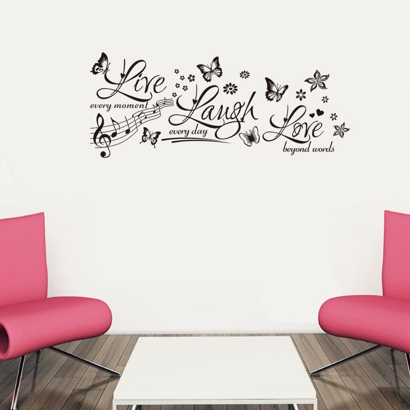 Wall Sticker Mural Decals Home Decor Butterfly Love Quote Vinyl Lettering Art