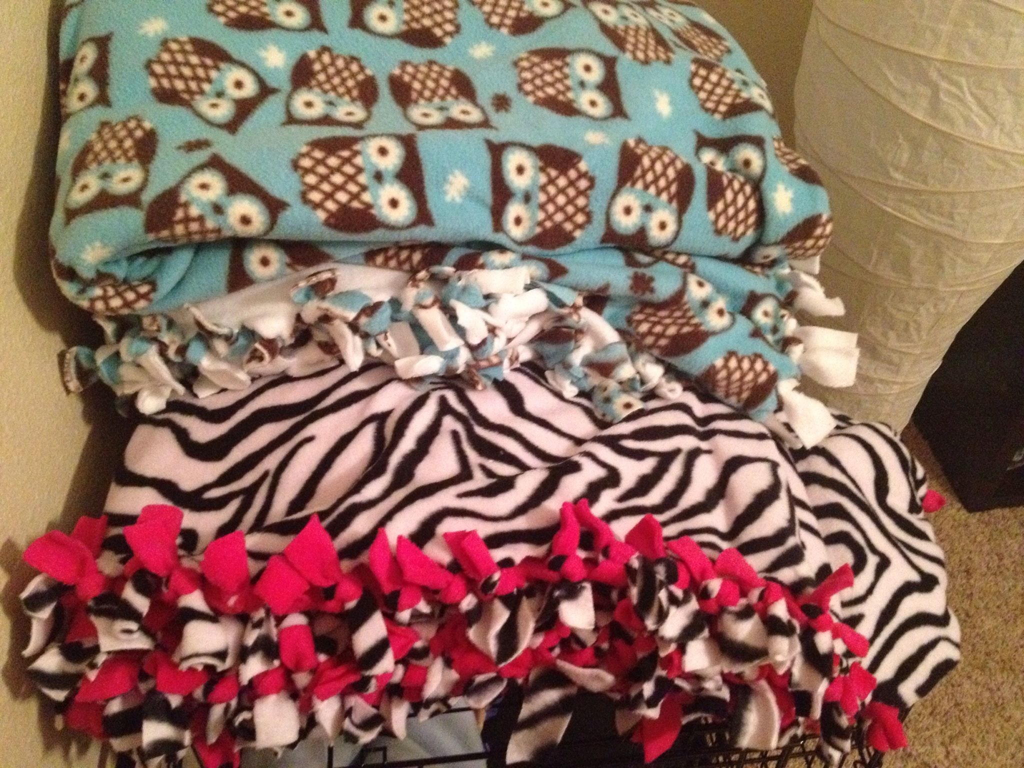 4be73e3631 Fleece tie blankets How To Sew Baby Blanket