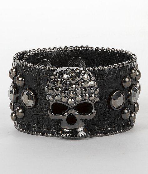 d473edf6c78 BKE Glitz Skull Cuff Bracelet | Her runway is the road | Pulseras y  brazaletes, Accesorios y Calaveras