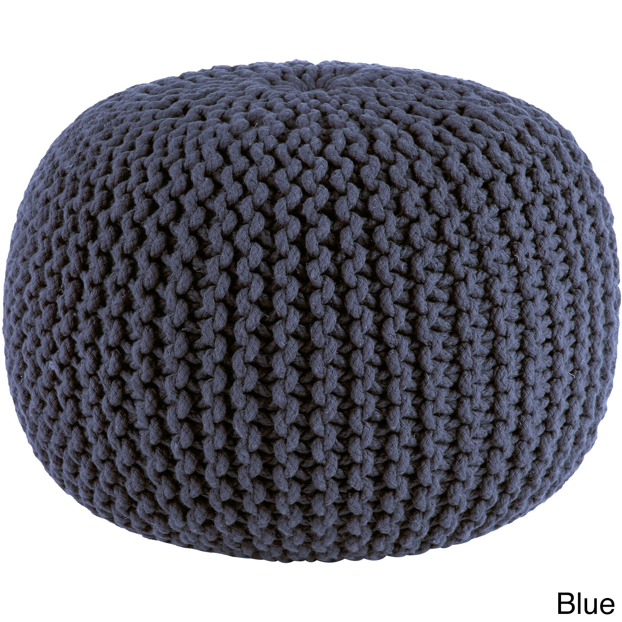 Orient Celebration Hand Knitted Pure Braid Pouf