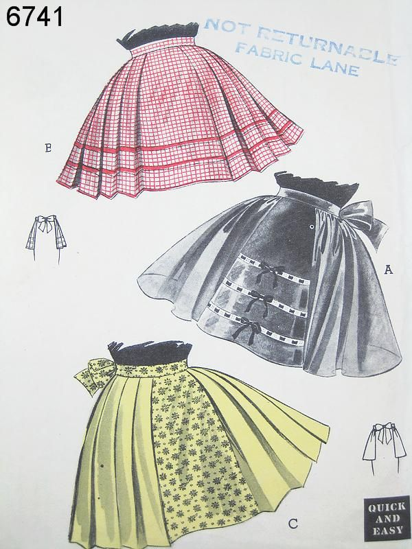 Butterick 6741 | Aprons | Pinterest | Costura, Delantales y Manualidades