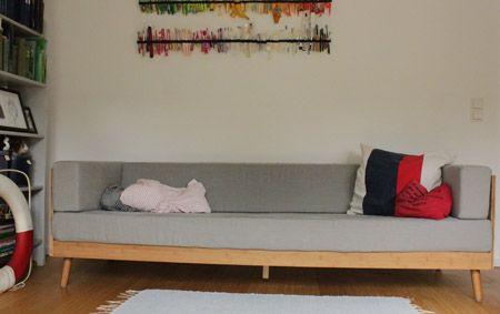 Sofa Selbstgebaut, Diy, 50Er | Nachhaltigkeitsblock | Pinterest