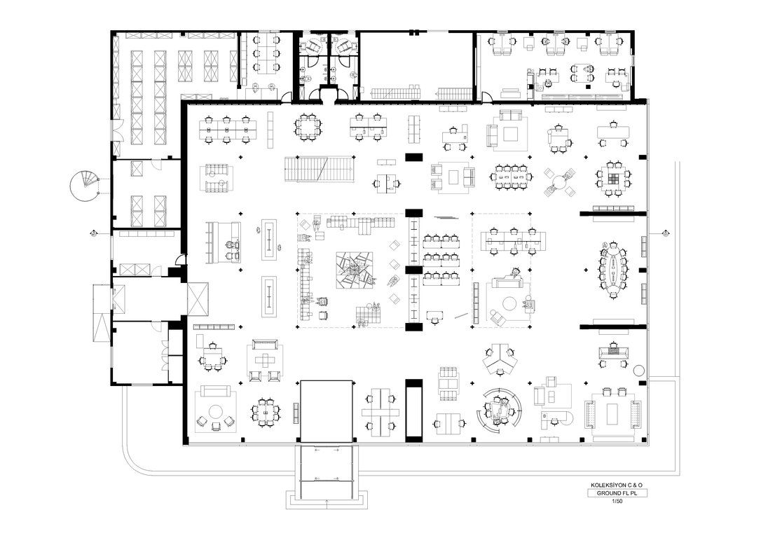 Office floor plan sanaa google search plans for Office layout plan design