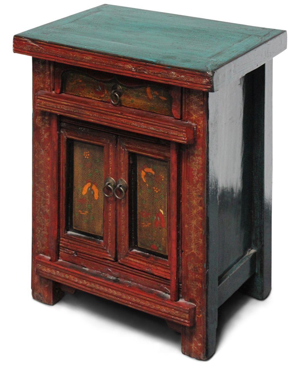 Nachtkastchen In Rot Braun Mobel Asiatische Sideboards Kommoden