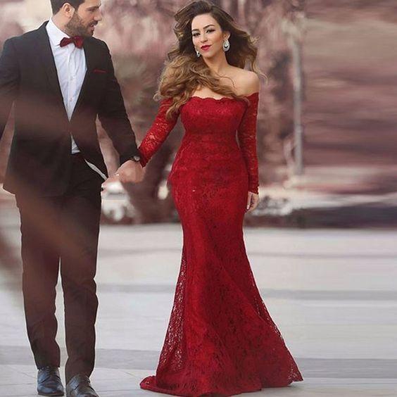 Elegant Mermaid Evening Dress Plus Size