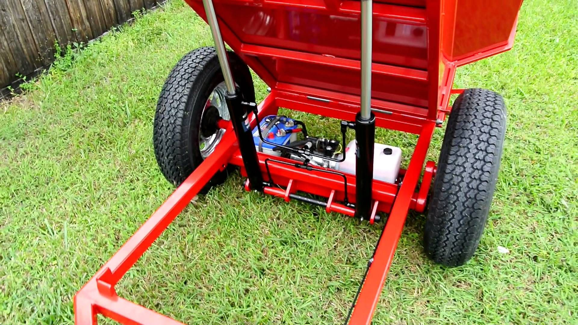 Custom garden red dump trailer dump trailers diy lawn