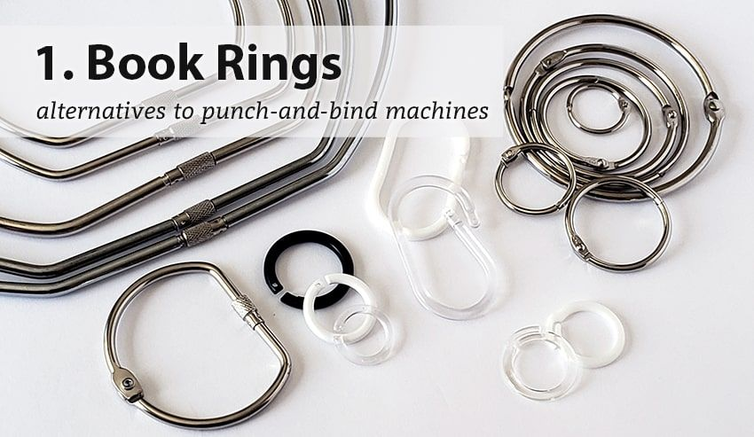 Resource Center 4 Alternatives To Punch And Bind Machines Rings Posts Notepads Coils Book Binding Machine Book Rings Book Binding