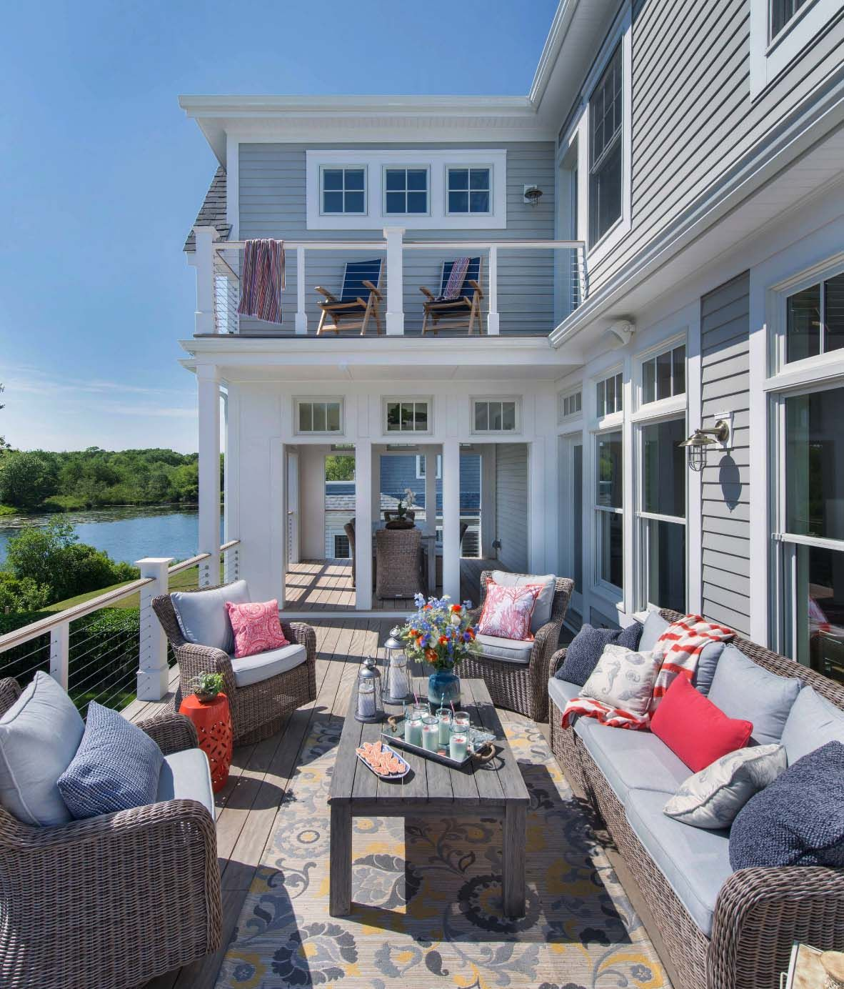 30 Amazing Beach Style Deck Ideas Promoting Relaxation Beach House Design Beach House Furniture Beach House Decor