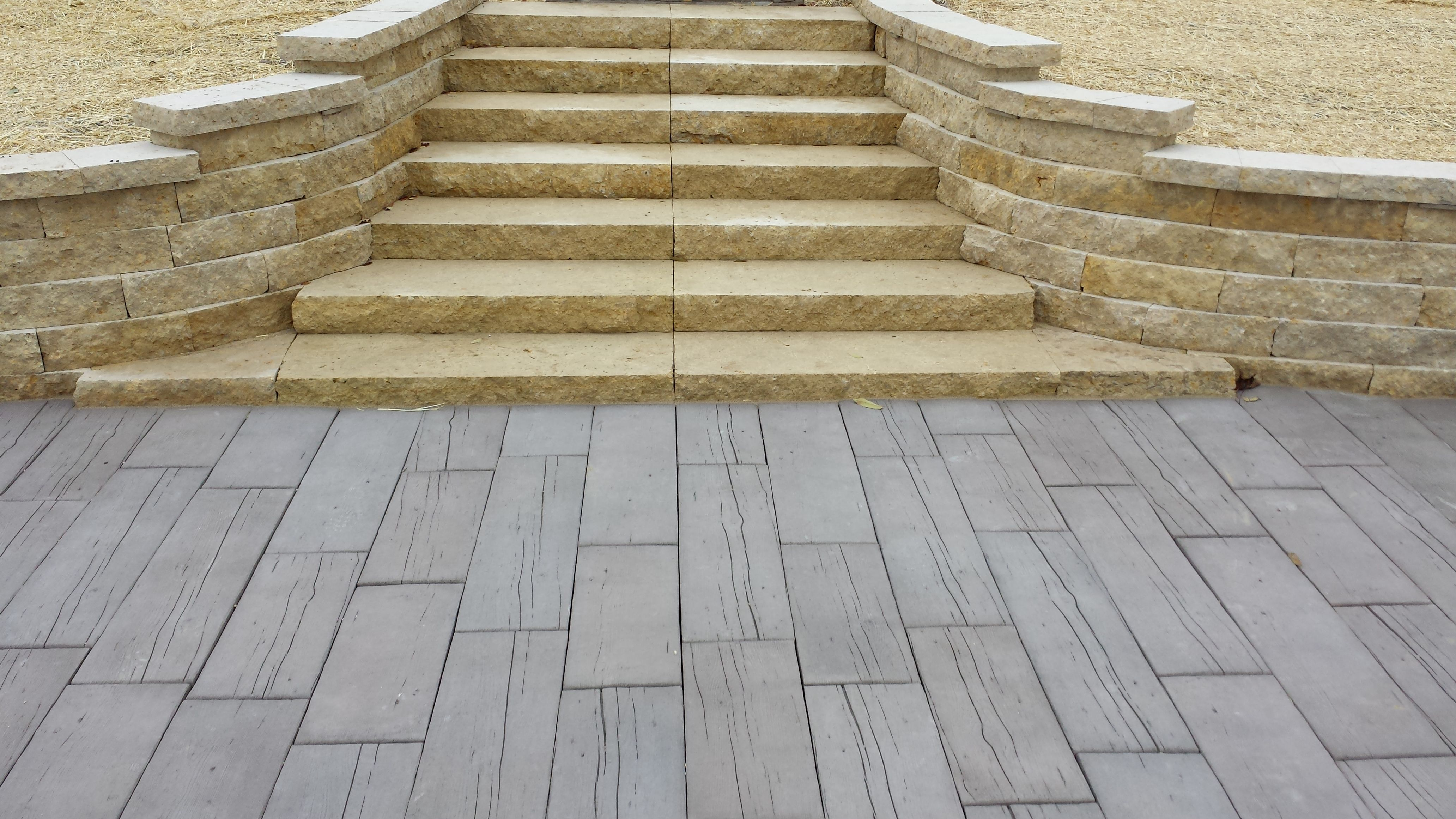 how to build limestone block steps