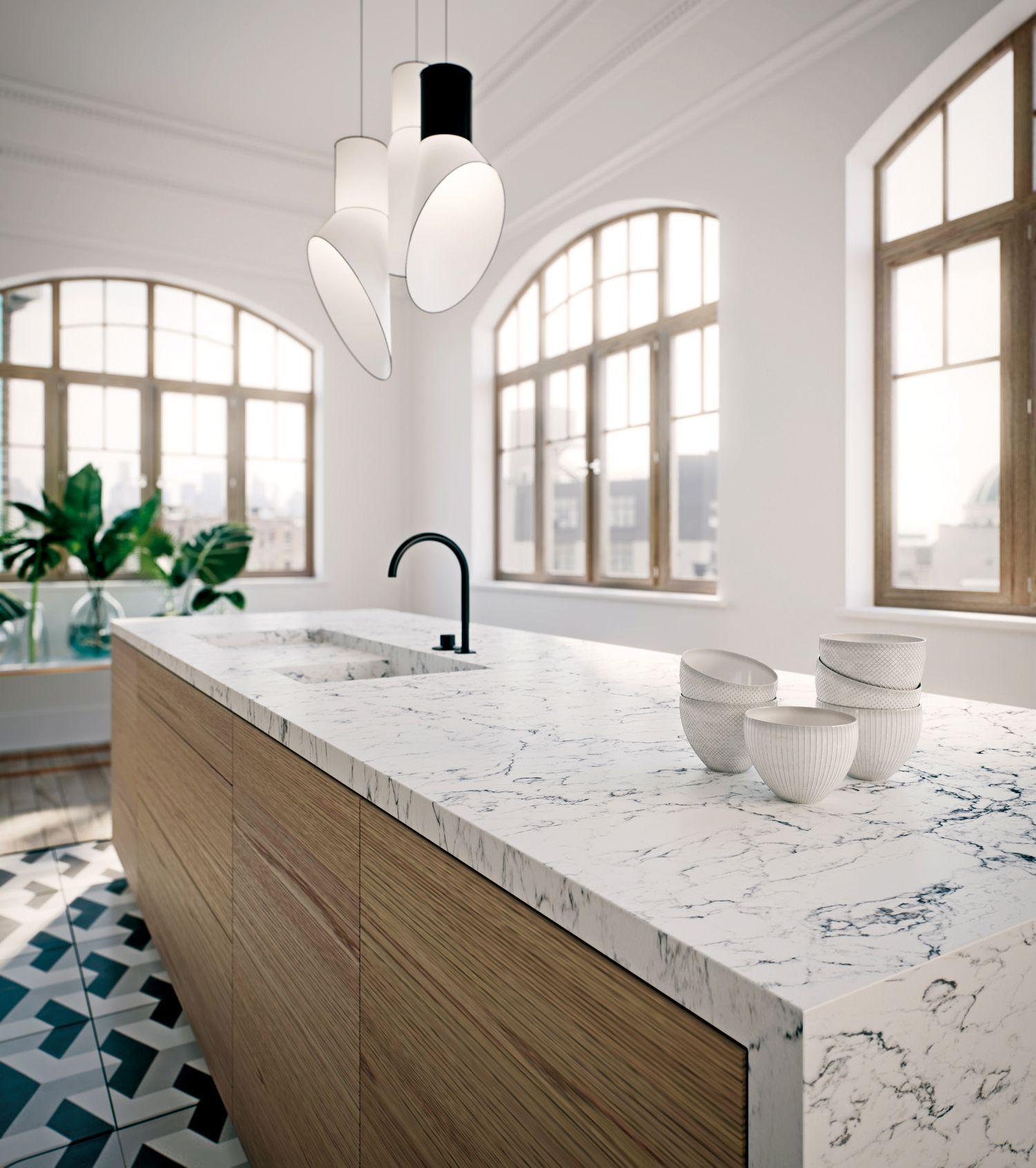 5143 White Attica Quartz Kitchen