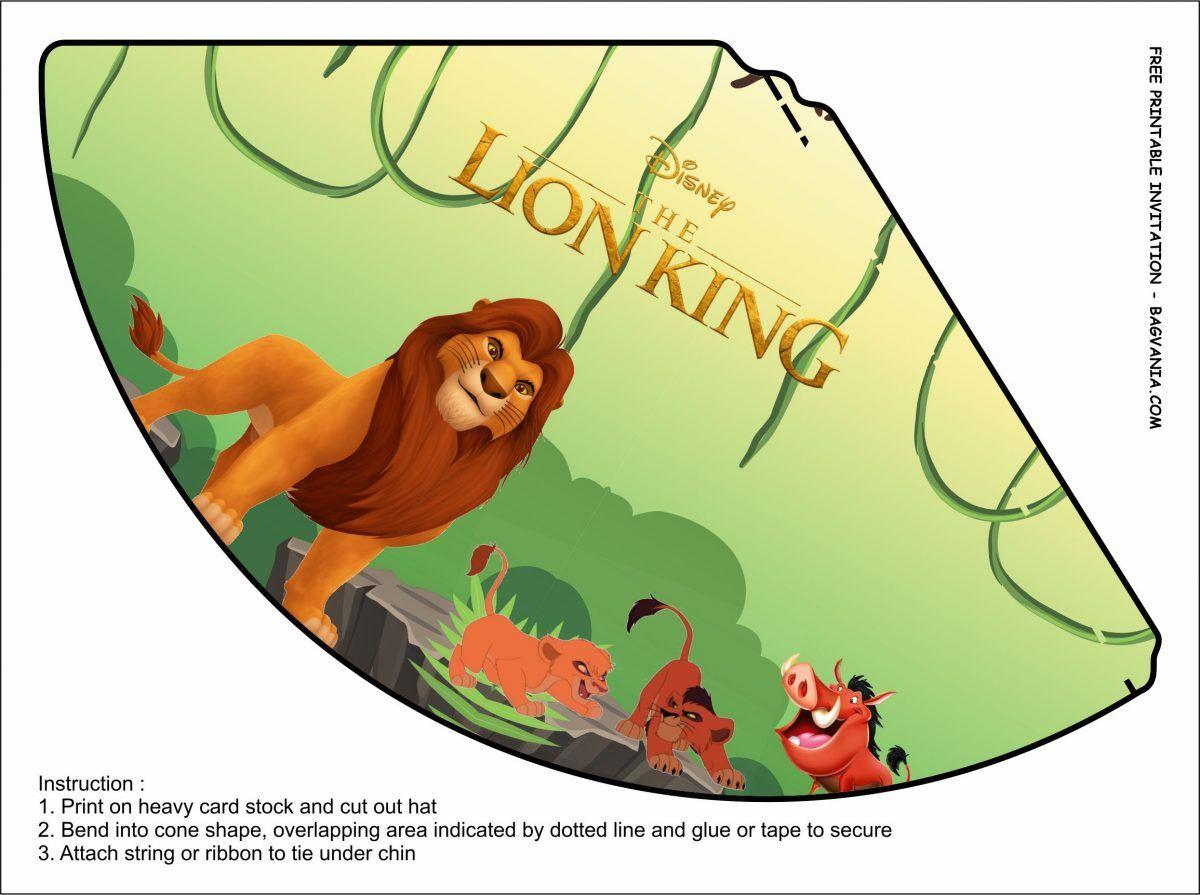Free Printable Lion King Birthday Party Kits Template En