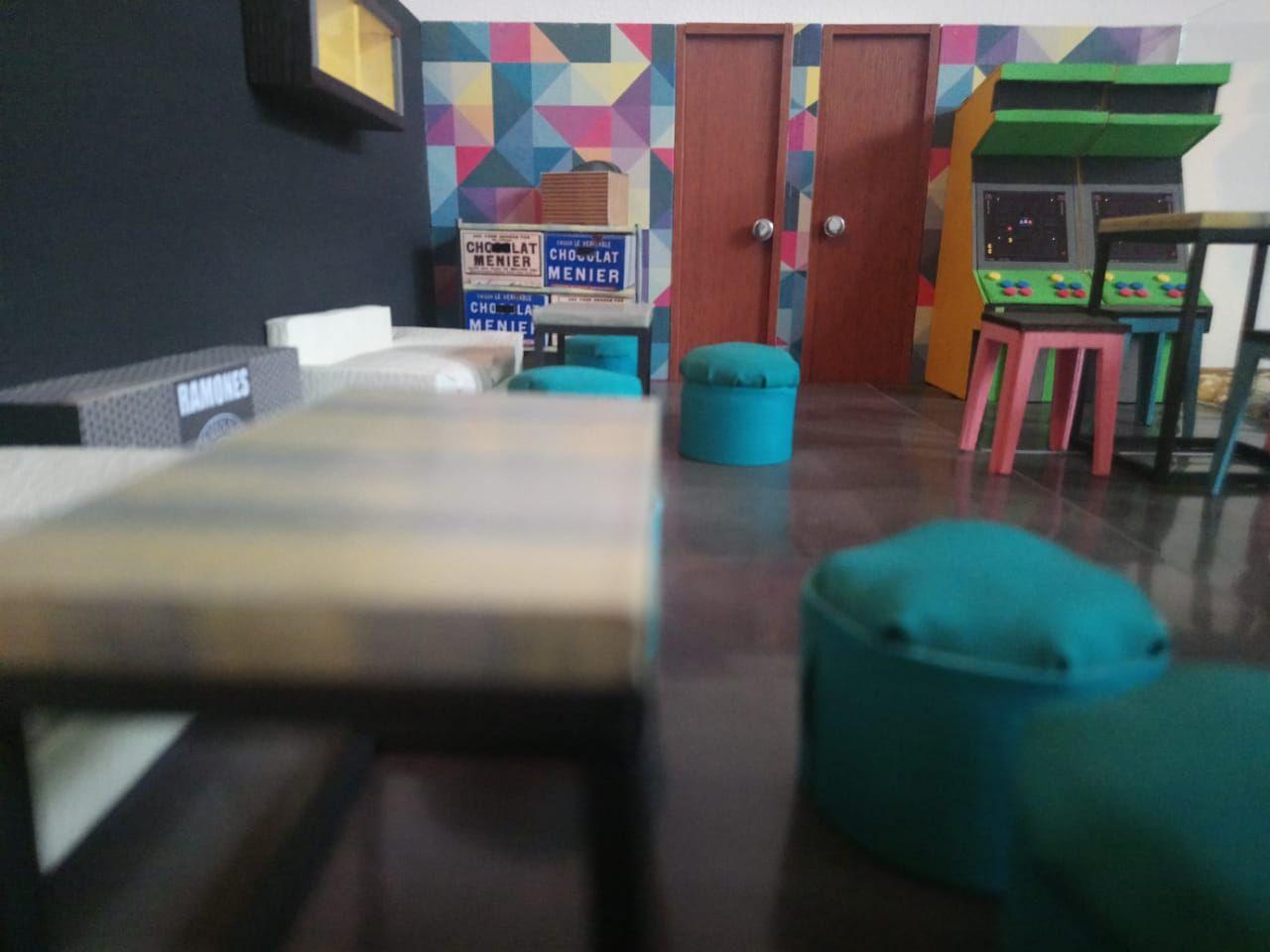 Diseño y decoración interior para bar-cafe 3 | MAQUETAS | Pinterest
