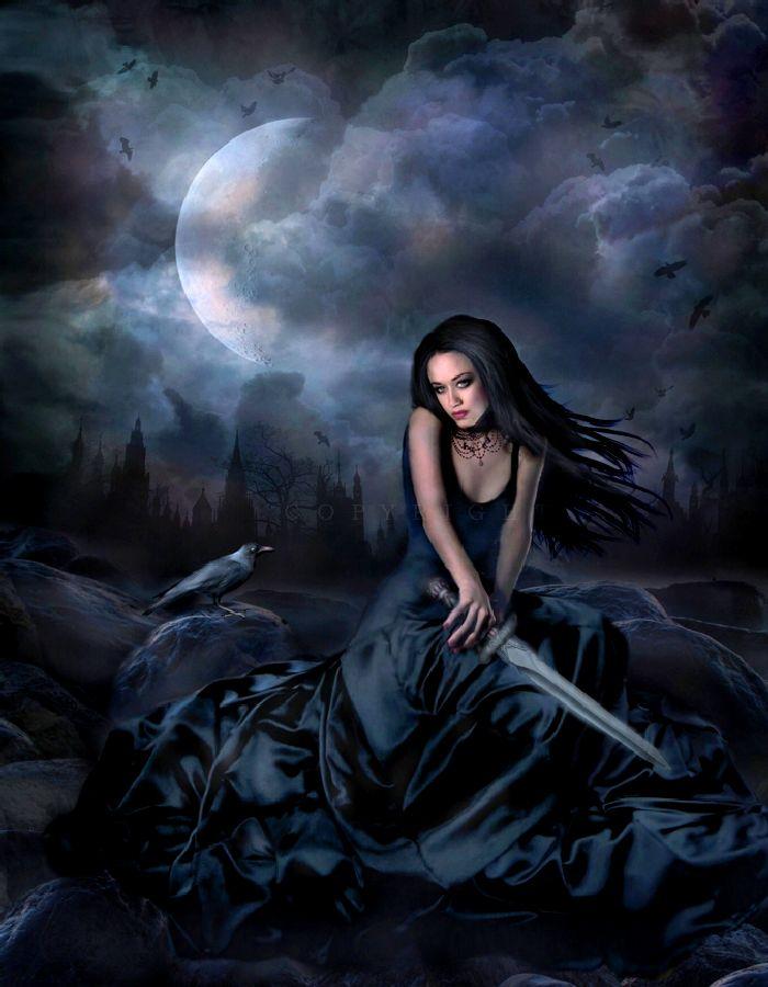 Black Raven Art by Andeavenor Gallery