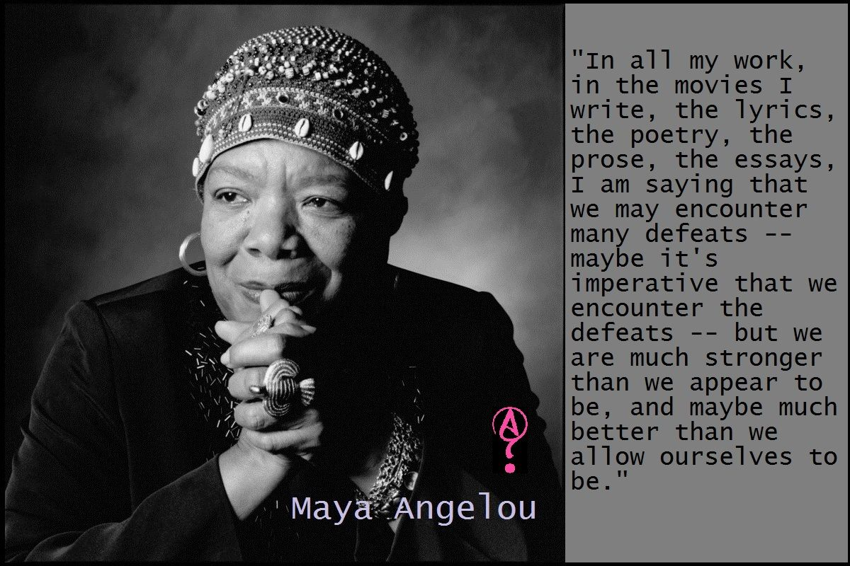 essay on maya angelou Maya angelou's influence maya angelou is terrific performer, singer, filmmaker, and civil-rights activist she is a phenomenal woman, one thing that she does best is writing she is still living today, i believe her legend will never die.