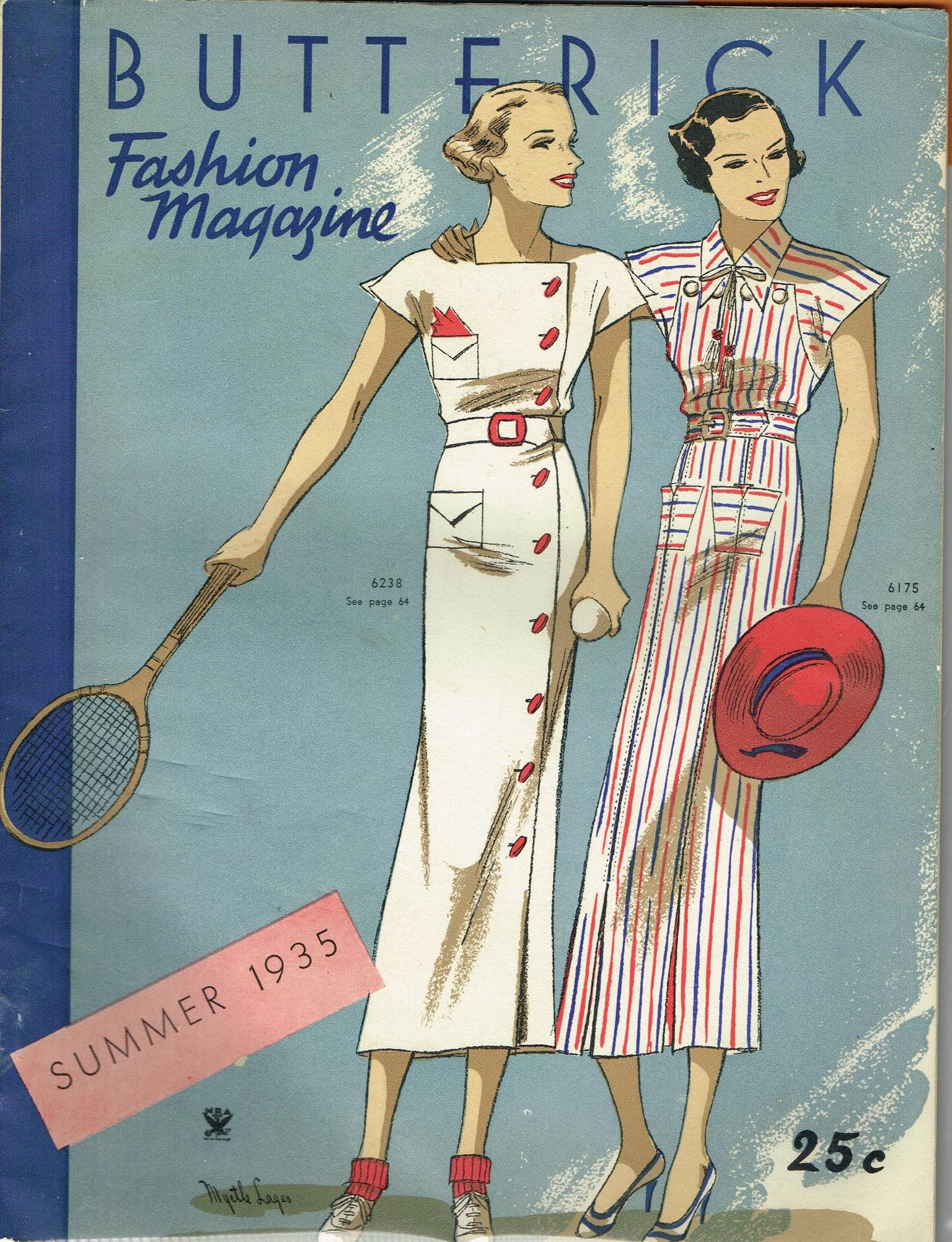 1930s Digital Download Butterick Summer 1935 Fashion Magazine ...