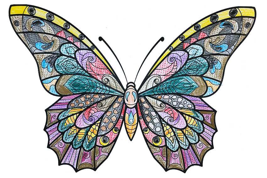 Ausmalbild Schmetterling kostenlos » Malvorlage ...
