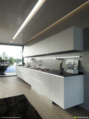 Diseno De Cocinas Modernas Iluminacion De Interiores Led Pinterest - Iluminacion-en-cocinas-modernas