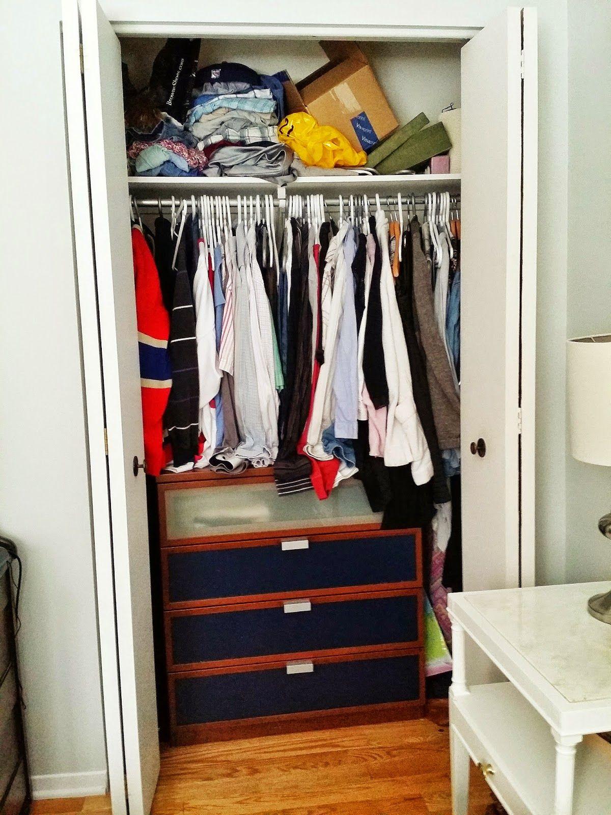 My perfectly organized closet system Ikea's Algot system